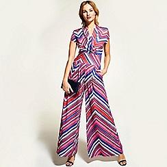 6071012ec0b HotSquash - Colourful stripes cap sleeved wide leg jumpsuit