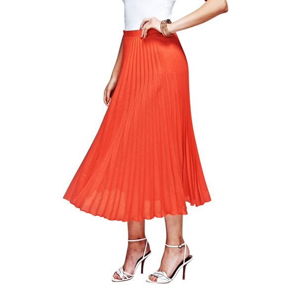 pleat skirt HotSquash in Orange fabric clever RY6Cw5fCq