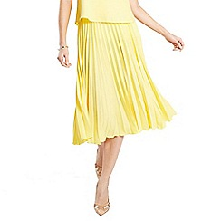HotSquash - Yellow pleat skirt in clever fabric