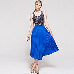HotSquash - Cobalt pleat skirt in clever fabric