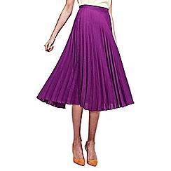 HotSquash - Purple Sunray Pleat Skirt in clever fabric