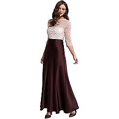 HotSquash - Chocolate silky maxi skirt in clever fabric