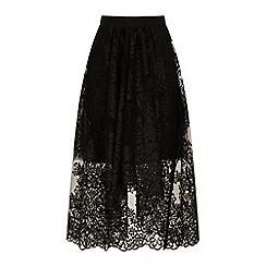 HotSquash - Black embellished 'carrie' midi skirt