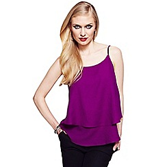 HotSquash - Berry double layered camisole top