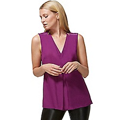 HotSquash - Purple crepe top with zip detail in clever fabric