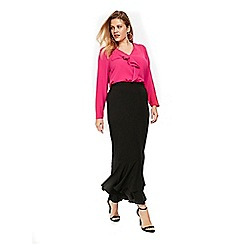 Evans - Frill front maxi skirt