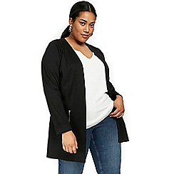 Evans - Zip longline black jacket