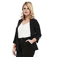Evans - Black studded soft jacket