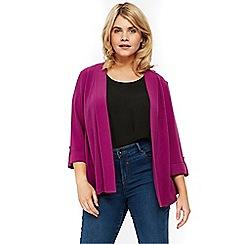 Evans - Purple stud soft jacket