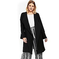 Evans - Black stud longline jacket