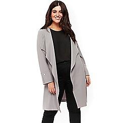 Evans - Grey stud longline jacket