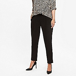 Evans - Black pull-on tapered trousers