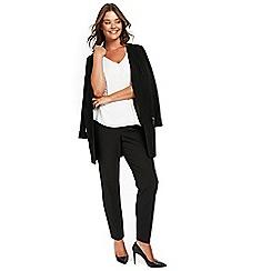 Evans - Black stud detail trousers