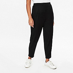 Evans - Black Jersey Tapered Trousers