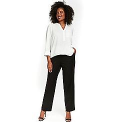 Evans - Black straight leg trousers