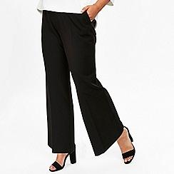 Evans - Black stud wide leg trousers