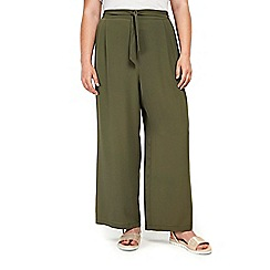 Evans - Khaki wide leg trousers
