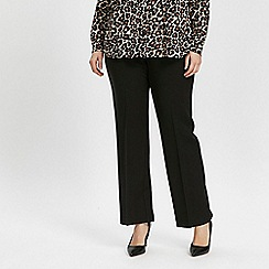 Evans - Black button straight leg trousers