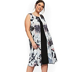 Evans - Black lily split midi dress