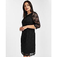Evans - Black lace shift dress