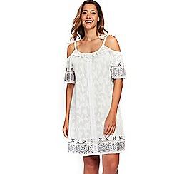 Evans - White embroidered dress