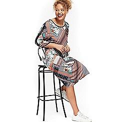 Evans - Print cold shoulder dress