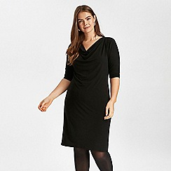 Evans - Black cowl neck shift dress