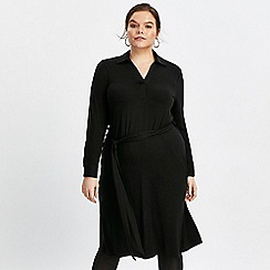 Evans - Black jersey shirt dress