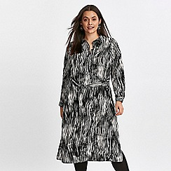 Evans - Black zebra print shirt dress