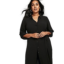 Evans - Black maxi shirt dress