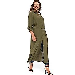 Evans - Khaki maxi shirt dress