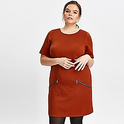 Evans - Rust tunic dress