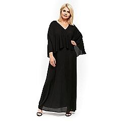 Evans - Black overlay maxi dress