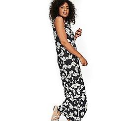 Evans - Black and white floral print maxi dress