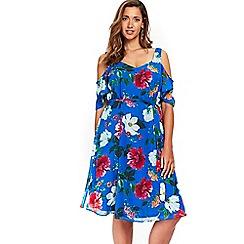 Evans - Blue floral dress