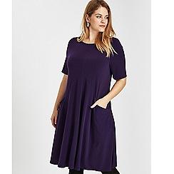 Evans - Purple jersey swing dress