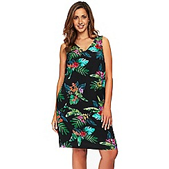 Evans - Multi coloured tropical print shift dress