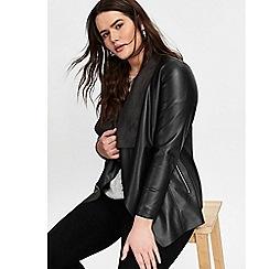 Evans - Black Faux Leather Jacket
