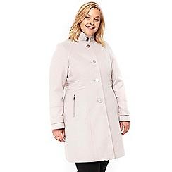 Evans - Stone zip pocket coat