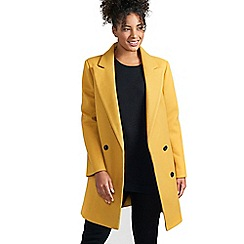 Evans - Mustard double breasted coat