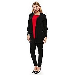 Evans - Black wool blend cardigan