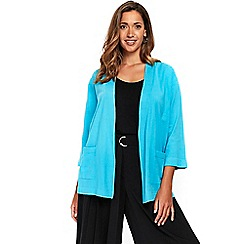 Evans - Turquoise pocket cardigan
