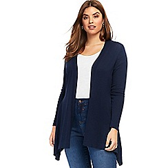 Evans - Navy blue graduated hem cardigan