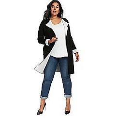Evans - Black contrast coatigan