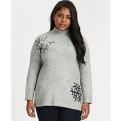 Evans - Grey snowflake christmas jumper