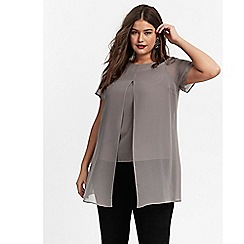 Evans - Grey split front top
