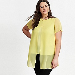 Evans - Yellow Split Front Top