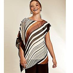 Evans - Boutique stripe asymmetric top
