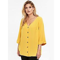 Evans - Yellow button top