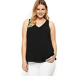 Evans - Black double layer cami